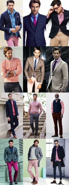 5 Key Men's 2015 Autumn/Winter Fashion Trends From London Collections: Key Colour - Pink, Wear It Now Lookbook Inspiration