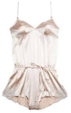Rosy silk and lace romper just to walk around the house: - Lingerie, Sleepwear & Loungewear - http://amzn.to/2ieOApL