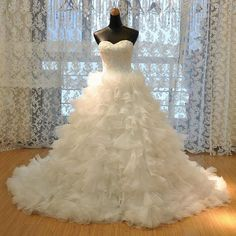 Cheap dress up dress, Buy Quality dress velvet directly from China dresses for chubby girls Suppliers: Luxury Bride Dresses For 2017 Casamento Ball Gown Sweetheart Lace Up Wedding Dresses Vestido De Novia Princesa Robe De Mariee Wedding Dress Train, Cheap Bridesmaid Dresses, Modest Wedding Dresses, Wedding Dress Styles, Bridal Dresses, Wedding Gowns, Ivory Wedding, Elegant Wedding, Tulle Ball Gown