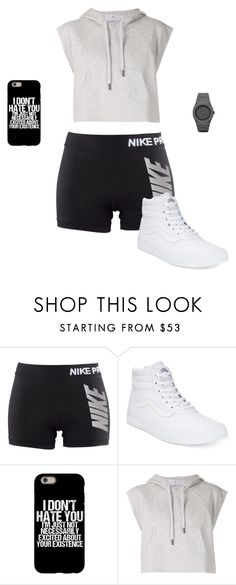 """Untitled #3495"" by gone-girl ❤ liked on Polyvore featuring NIKE, Vans, adidas and CC"