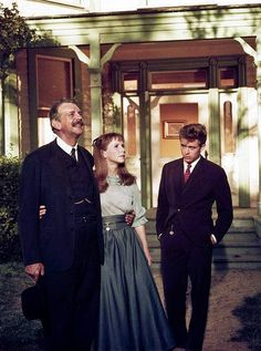 Raymond Massey, Julie Harris and James Dean in 'East of Eden' - 1955