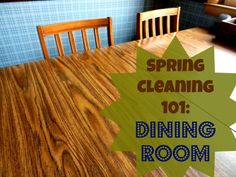 Organizing Life with Less: Spring Cleaning 101: Dining Room