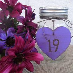 Mason Jar Table Number Favor Decoration Centerpiece - Item 1089