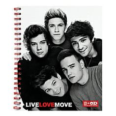 One Direction Limited Edition 1D + OD Together Spiral Notebook, Band, Red