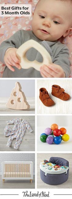 What makes the perfect gift for a 3 month old baby? We'll show you! We've collected our favorite baby clothes, toys and nursery furniture that all make age appropriate gifts for a 3 month old.