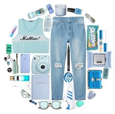 """""""Blue Mellow🐟"""" by varrica ❤ liked on Polyvore featuring Monki, OPI, Fujifilm, Maybelline, philosophy, adidas, Valentino, ZeroUV, NARS Cosmetics and Komono"""
