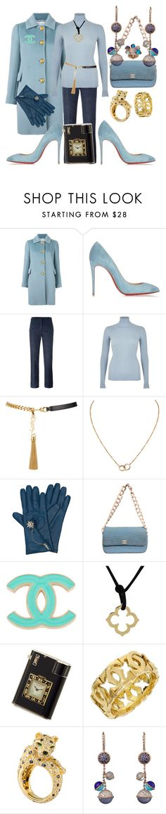 """""""Miss fancy pants"""" by ellenfischerbeauty ❤ liked on Polyvore featuring RED Valentino, Christian Louboutin, Victoria Beckham, River Island, Yves Saint Laurent, Cartier, Henri Bendel and Chanel"""