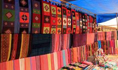 Brocade fabric are Sapa market