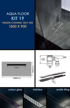 Wet Room Tanking Kit 19 with Channel Drain (84U)
