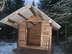 Awesome permanent primitive survival shelter!