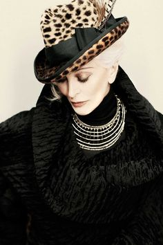 Leopard Fedora modeled elegantly by Carmen dell'Orefice. #Hats