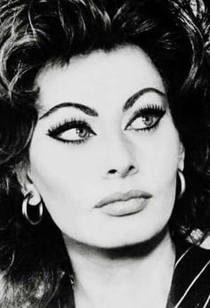 The Golden Year Collection — hollywoodlady: Sophia Loren, Hollywood Icons, Old Hollywood Glamour, Golden Age Of Hollywood, Classic Hollywood, Dramatic Eye Makeup, Dramatic Eyes, Divas, Sophia Loren Images, Italian Actress