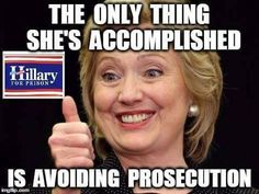 Evil Cunt Hillary Clinton for Prison 2016