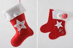 Tara Dennis - Christmas Craft - Felt stocking ornament