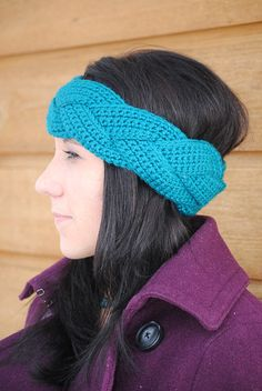 Braided Crochet Earwarmer Pattern PDF - Thumbnail 1