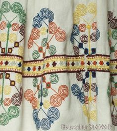 Folk Costume, Costumes, Folk Clothing, Embroidered Blouse, Pleated Skirt, Embroidery Designs, Apron, Skirts, Ebay