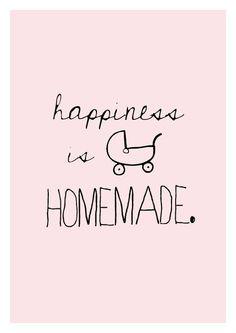 Happiness is homemade quote poster print Typography door sinansaydik