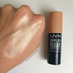 NYX Bright Idea Illuminating Stick in Chardonnay Shimmer. Follow my instagram @mellyfmakeup for more!