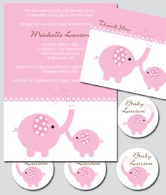 This Pink Elephant Party Printable will surely be unforgettable for the mother-to-be and party guests!
