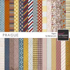 Prague Papers Kit by Marisa Lerin   Pixel Scrapper digital scrapbooking