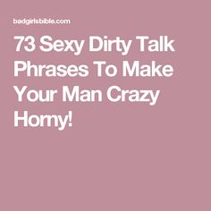 Sex talk with your man