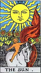 Your #Tarot Card for #Today March 1, 2015 The Sun!! Happy moments leisure, light, health, vitality!! The Sun Happy moments, feeling; feeling childlike, flirtations; playful; creating your own light, joy, celebration, good health; vitality; overall positivity; emotional support; positive news or in...