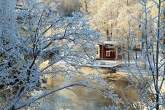 Talvinen Siltasaari, Heinola Winter Rain, Romance, River, Finland, Romantic Things, Rivers, Romances, Romantic