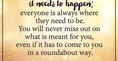 Everything happens when it needs to happen by Iyanla Vanzant