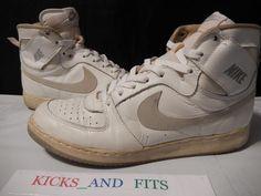 VTG OG 1985 Nike Convention sz 11.5 White Gray Rare pre Jordan air Taiwan retro #Nike #AthleticSneakers