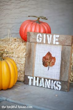 Give Thanks! Fall Burlap Project