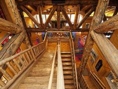 It Would Take A Lot Of Lincoln Logs To Recreate This square foot Cabin. The Huntsman Estate in Park City Is For Sale. Lincoln Logs, Exterior Stairs, Way To Heaven, Park City Utah, Log Cabin Homes, Log Cabins, Amazing Spaces, Cabins In The Woods, Luxury Homes