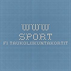 www.sport.fi Taukoliikuntakortit