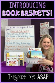 Introducing Book Baskets to your Students Comprehension Activities, Reading Activities, Teaching Reading, Guided Reading Organization, Classroom Organization, Classroom Ideas, Library Skills, Library Books, Free Library