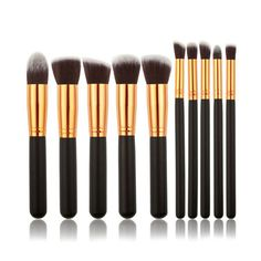 Make-up Kwasten Set 'Zwart/Goud'