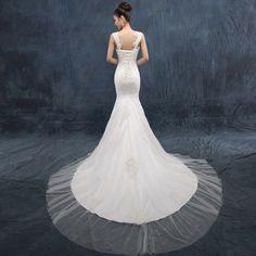 Fishtail wedding dress 2014 new winter fashion shoulder type tailing Slim Korean version of the retro big yards lace straps -tmall.com Lynx