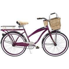 Huffy Catalina 26 Ladies' Cruiser Bike With Basket And Beverage Holder - http://www.bicyclestoredirect.com/huffy-catalina-26-ladies-cruiser-bike-with-basket-and-beverage-holder/