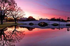 Porto Alegre - RS - Brasil - amanhecer na Ponte dos Açorianos