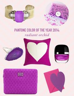 Color Trend: Radiant Orchid  // Twin Stripe