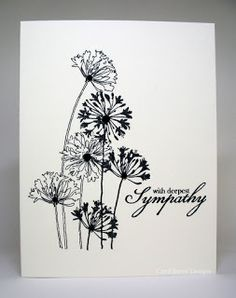 The Inky Daisy: Neutrals Cream & Black & A Bit of Bling Could also be Thinking of You Scrapbook Cards, Scrapbooking, Making Greeting Cards, Stamping Up Cards, Quick Cards, Get Well Cards, Sympathy Cards, Sympathy Messages, Masculine Cards