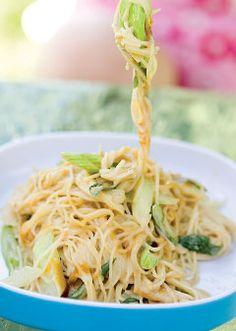 Cold Peanut Noodles - Boost the main-dish with some shredded grilled chicken breast or rotisserie chicken.