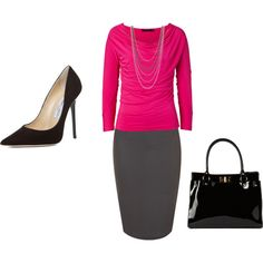 Shirts & tops, pencil skirt and heels & pumps for your first day of work