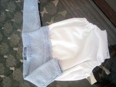 Pelele de algodón y lana bebé hand-made