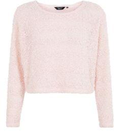 Teens Pink Popcorn Knit Jumper Now £7.99 Was £12.99