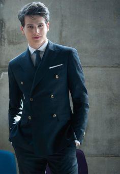 Gentleman Mode, Gentleman Style, Outfits Casual, Mode Outfits, Dress Outfits, Mens Fashion Suits, Mens Suits, Men's Fashion, Groom Suits
