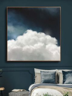 """""""Cumulus V"""" Cloud Painting Large Canvas Print Grand Art Mural, Cloud Art, Contemporary Abstract Art, Large Abstract Wall Art, Diy Canvas Art, Large Canvas Wall Art, Extra Large Wall Art, Hanging Art, Art Paintings"""
