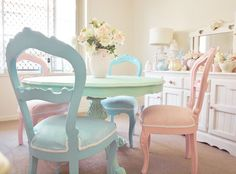 Love the colors Cottage Chic, Cottage Style, French Armoire, Pastel Kitchen, Pastel House, Pastel Decor, Seaside Style, Pretty Pastel, Soft Colors