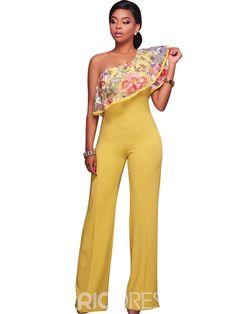fb66d95d58e4 Embroidery Asymmetric Ruffles Jumpsuits Pants. Rompers WomenJumpsuits For  WomenLong PantsWide Leg PantsPant ...