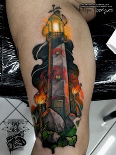 Lighthouse tower by Felipe Rodrigues, Torre do Farol feita pelo paulista Felipe Rodrigues