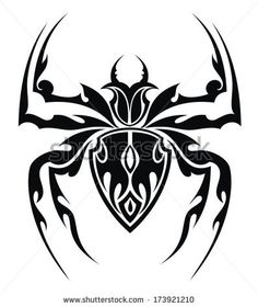 tribal spider tats pinterest spider tattoo and spider tattoo. Black Bedroom Furniture Sets. Home Design Ideas