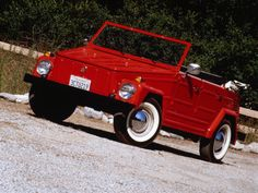 "VW 1974 Thing. Yes ""thing"" is the actual name. Want this car sooo bad! ooo it has white rimmed tires <3"